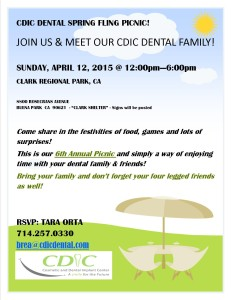 Cosmetic and Dental Implant Center's Spring Fling Picnic!